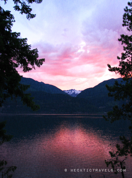 Sunset over Kokanee Glacier