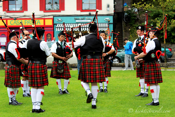 Bagpipe competition in Ireland