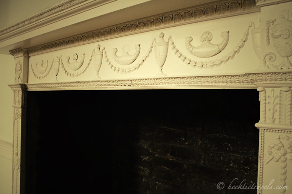 The detail around the fireplace