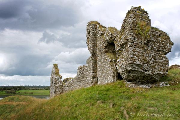 Dark skies gather over Clonmacnoise