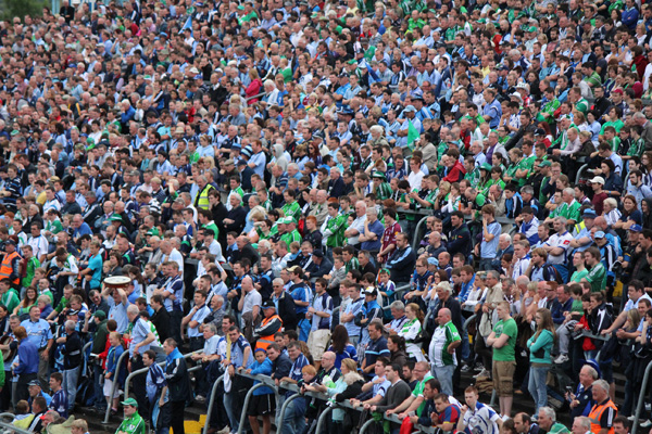 The crowd at Thurles for the hurling match