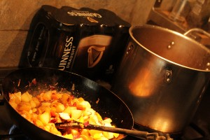 Irish Food Making Guinness Stew