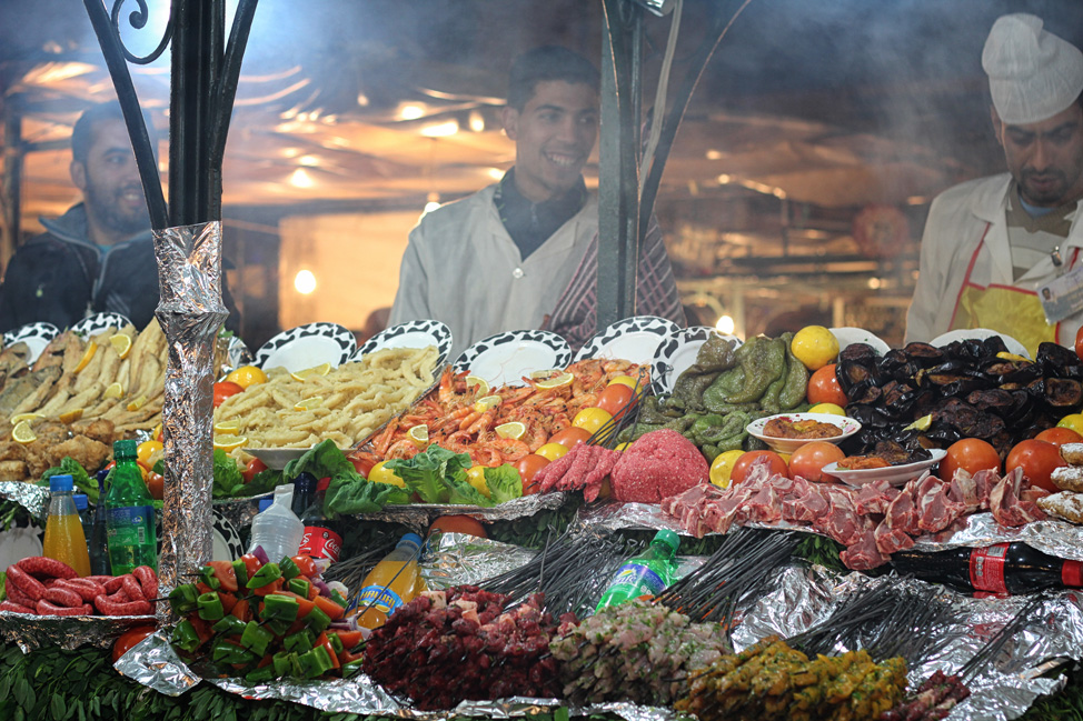 Food Stalls in Marrakech Night Market