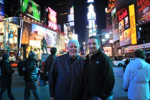 Pete and his Dad, Times Square