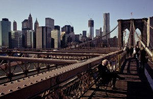 Walking the Brooklyn Bridge