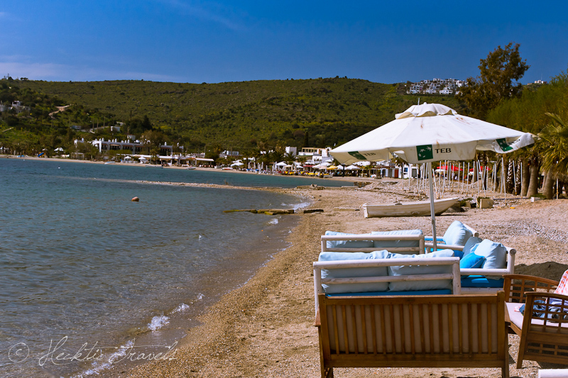 Empty Beach - Bodrum, Turkey