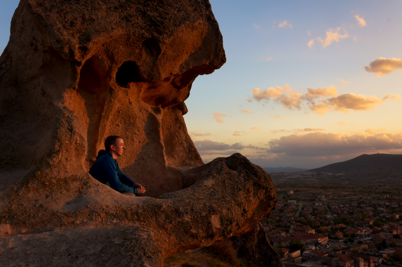 Pete sunset Cappadocia