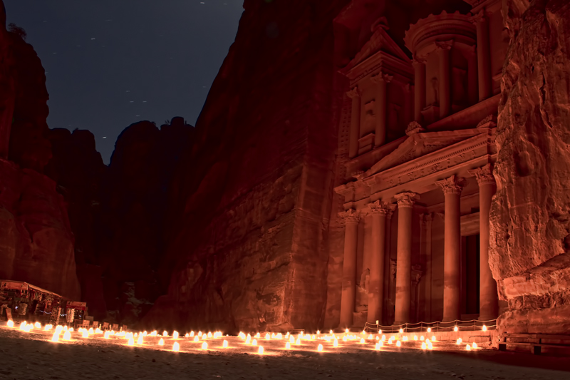 Jordan - Petra by Night - The Treasury