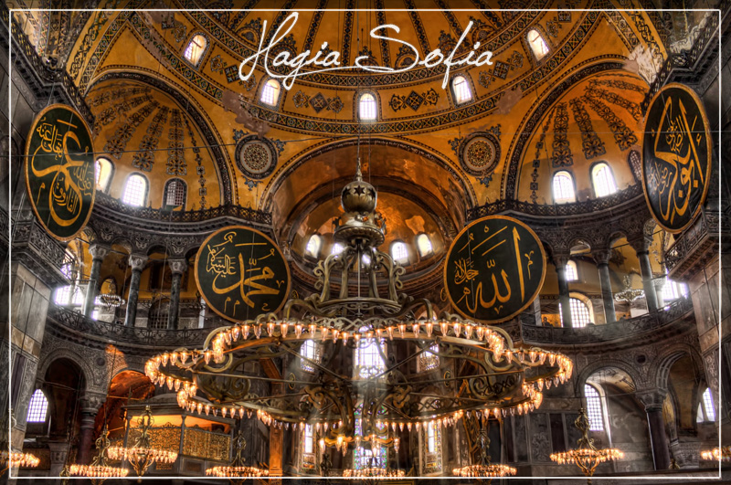 Hagia Sofia postcard