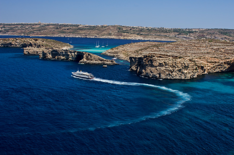 Cruising the blue lagoon, Malta