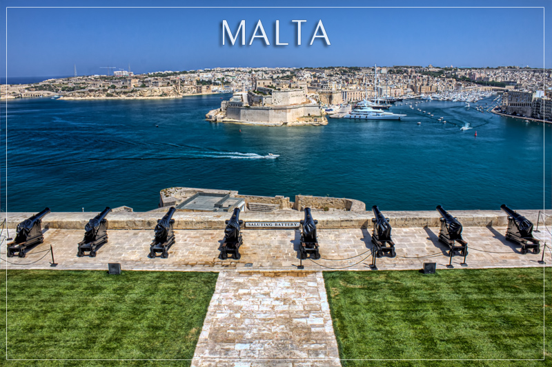 Saluting Battery - Valletta, Malta