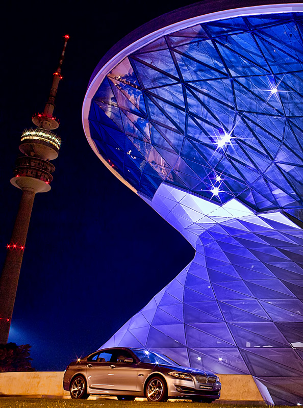 BMW Welt at Night