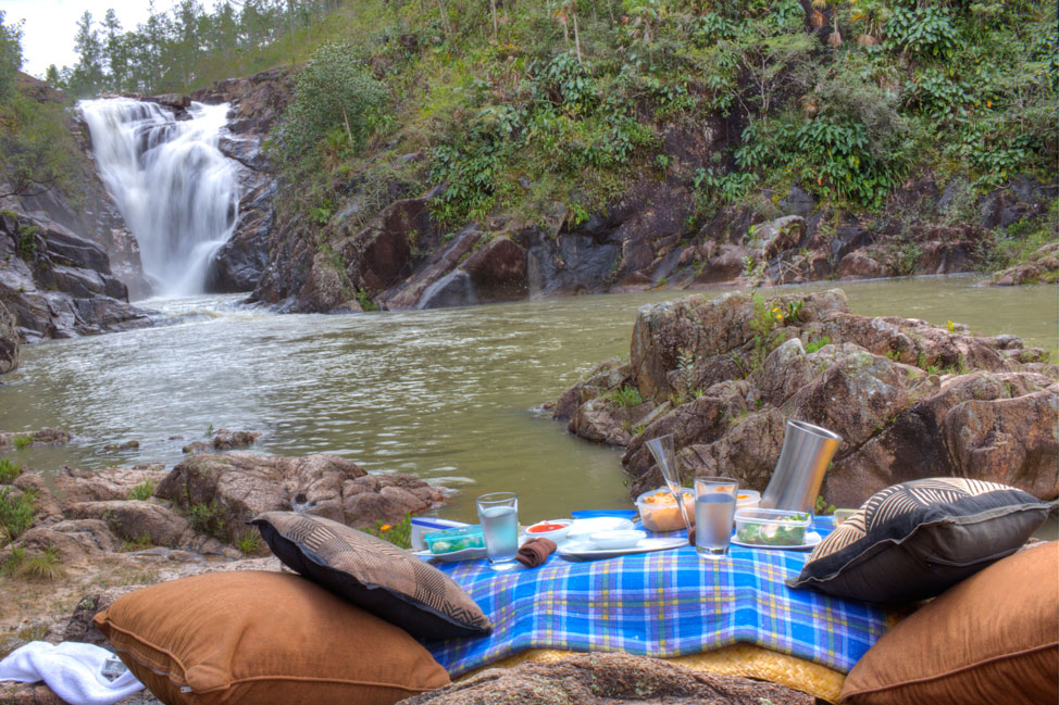 Ka'ana Belize Waterfall Picnic Location