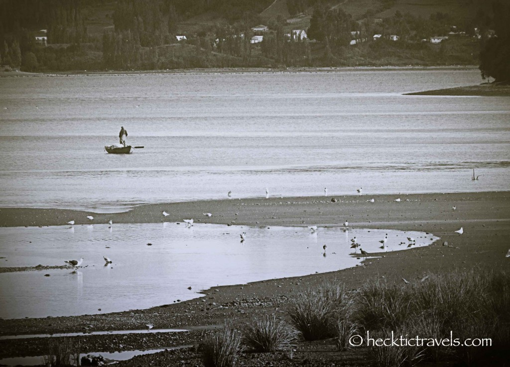 The lone fisherman - Castro, Chiloe