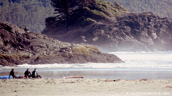 Vancouver Island - Surfers on Chesterman Beach