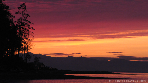 Vancouver Island - Sunset from Rathtrevor Provincial Park