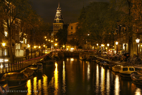 amsterdam photos taken from day to night