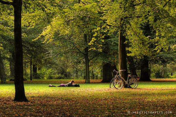 Park in Haarlem, Netherlands