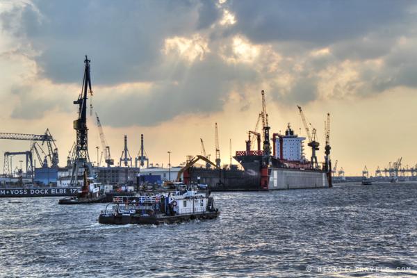 Hamburg Port in Action