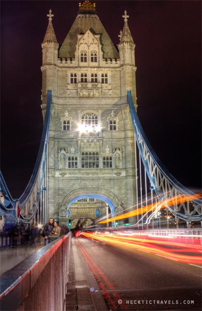The Traffic on London's Tower Bridge