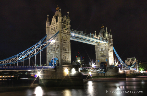 London's Tower Bridge at night