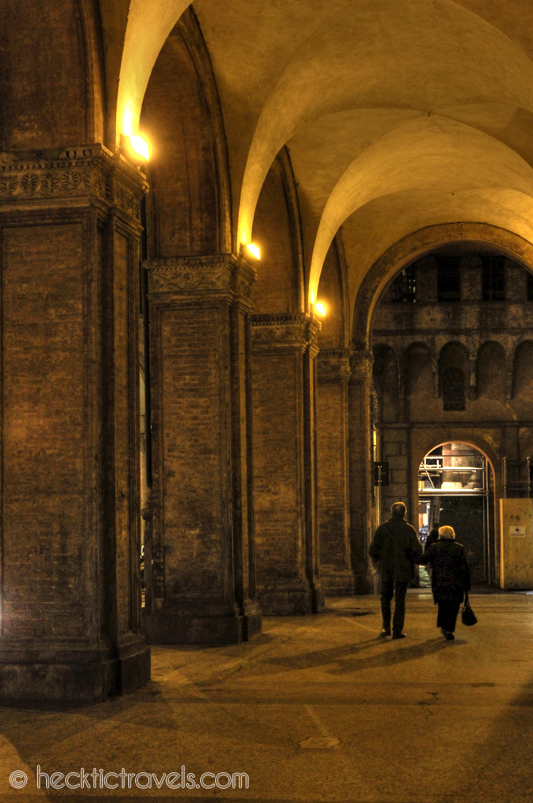 Bologna's Porticos at Night