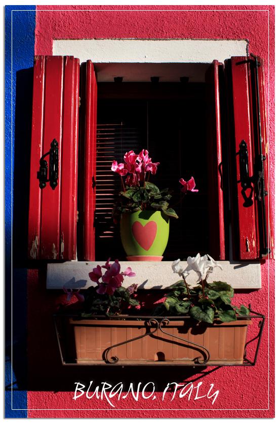 Burano colorful window