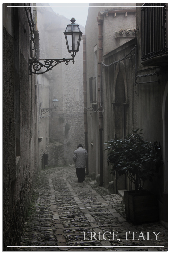 Cold street of Erice