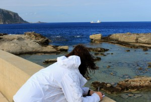 Writing in Favignana