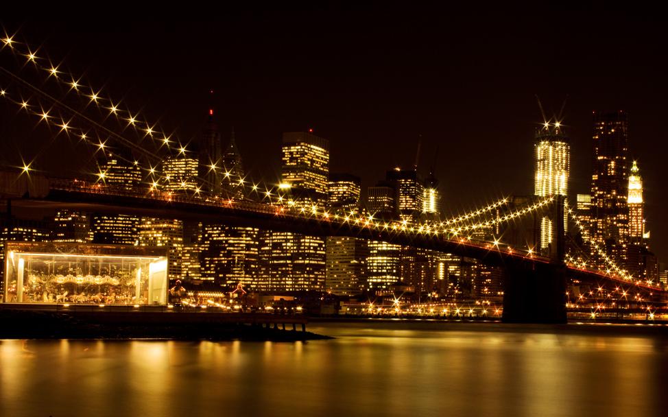 Brooklyn Bridge with Jane's Carousel