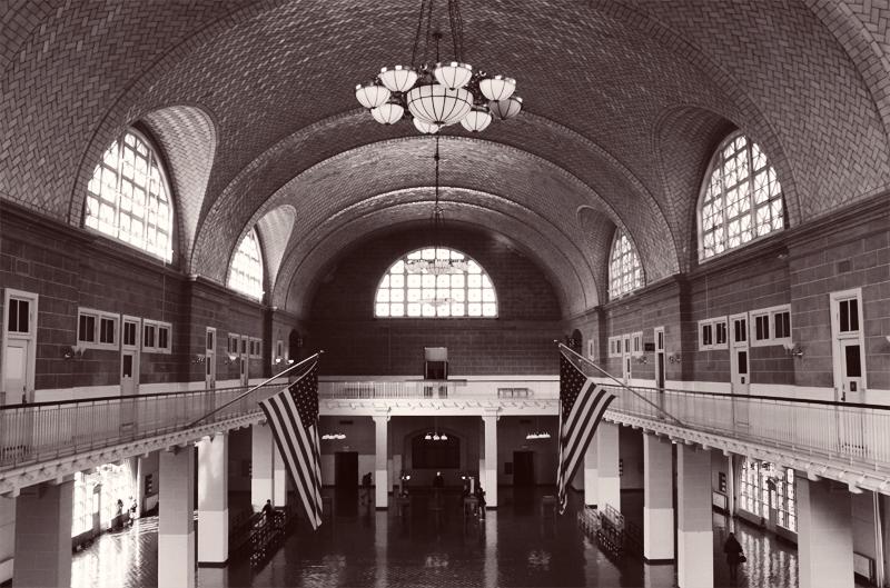 Stairs To The Registry Room Ellis Island