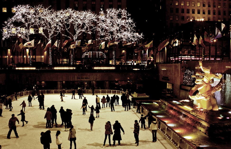 Skating at Rockefeller