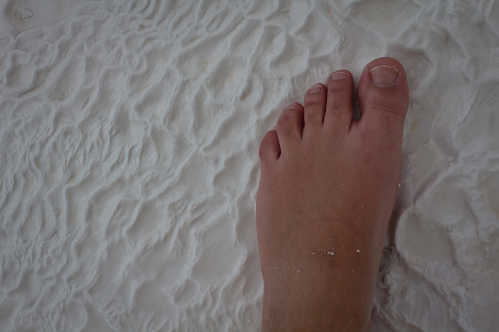 Footsteps in Pamukkale