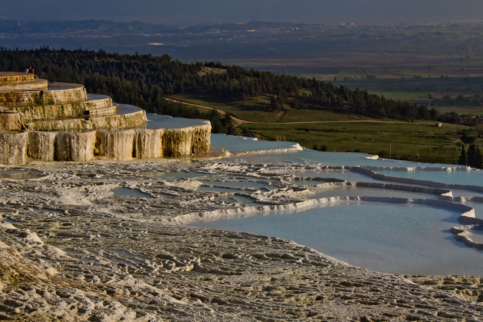 Golden hour on Pamukkale