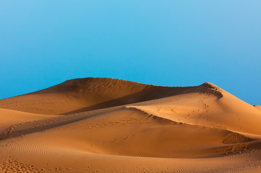 golden sand dune at Maspalomas, Grand Canary, Canary Islands