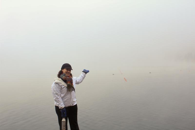 Lake Bled in fog
