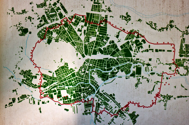 POT path map, Ljubljana