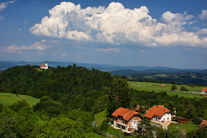 Churches in the Slovenian countryside