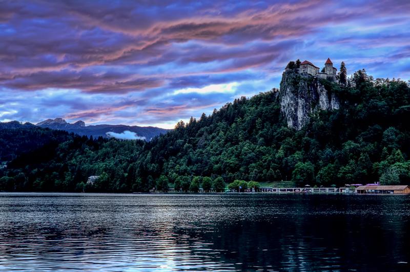 Sunset Lake Bled