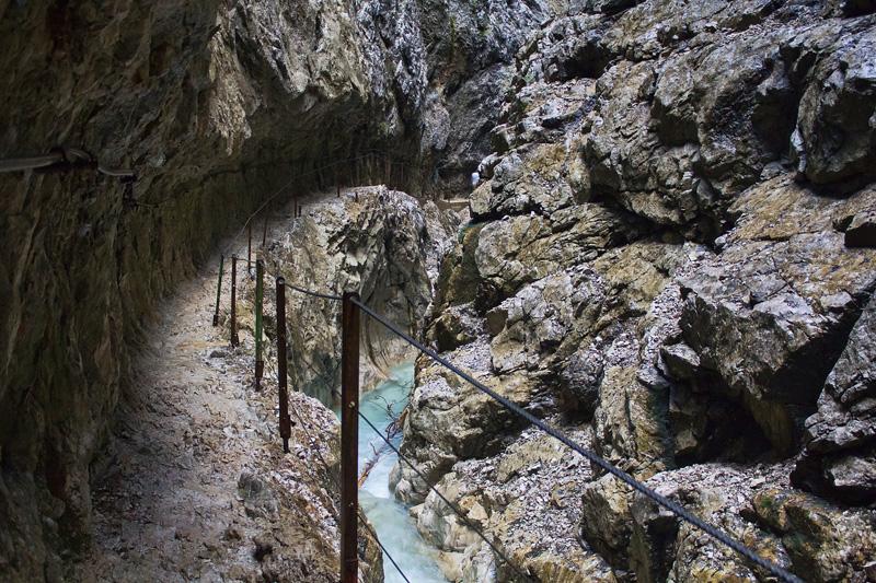 German Alps Gorge