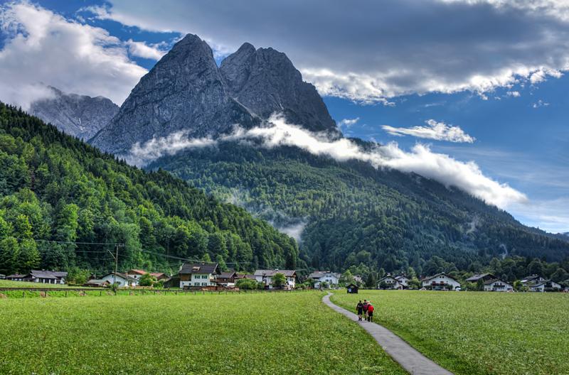 German Alps view