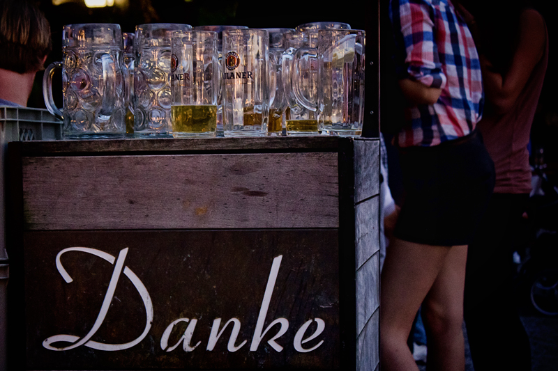 Munich Beer Garden Danke
