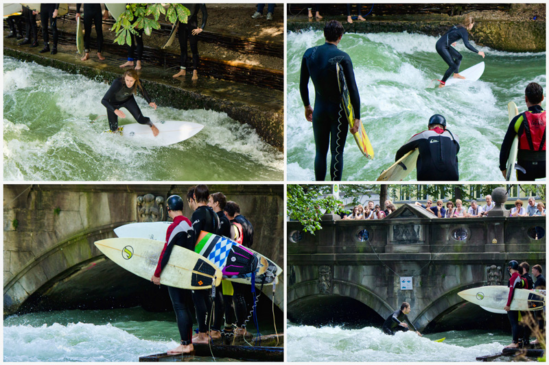 Surfing in Munich - Collage