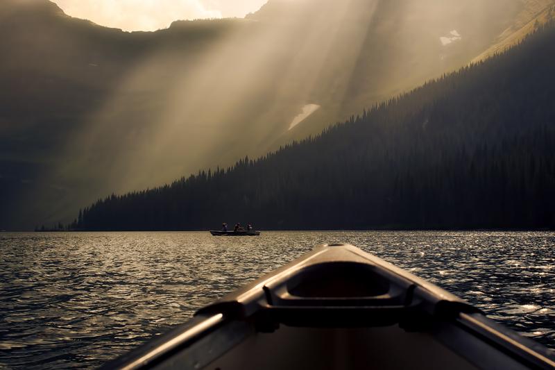 Canoe Cameron Lakes Alberta