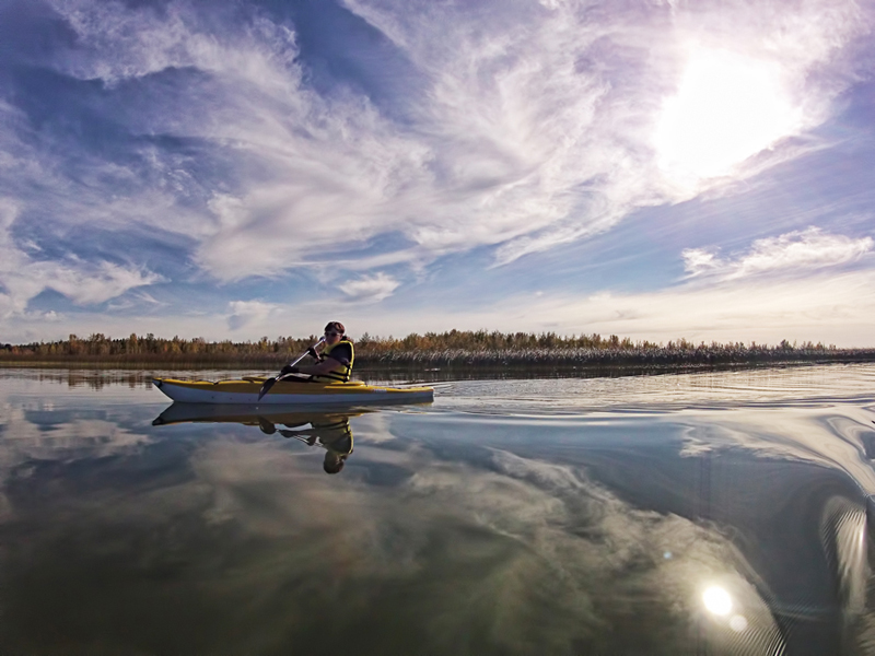 Dalene Kayaking Gull Lake Alberta