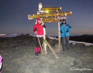 Sunrise on Kilimanjaro