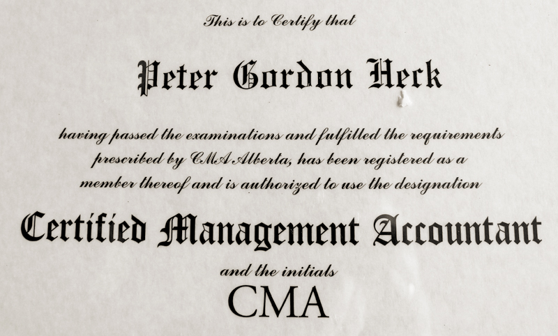Peter Heck - CMA certificate - 800x482