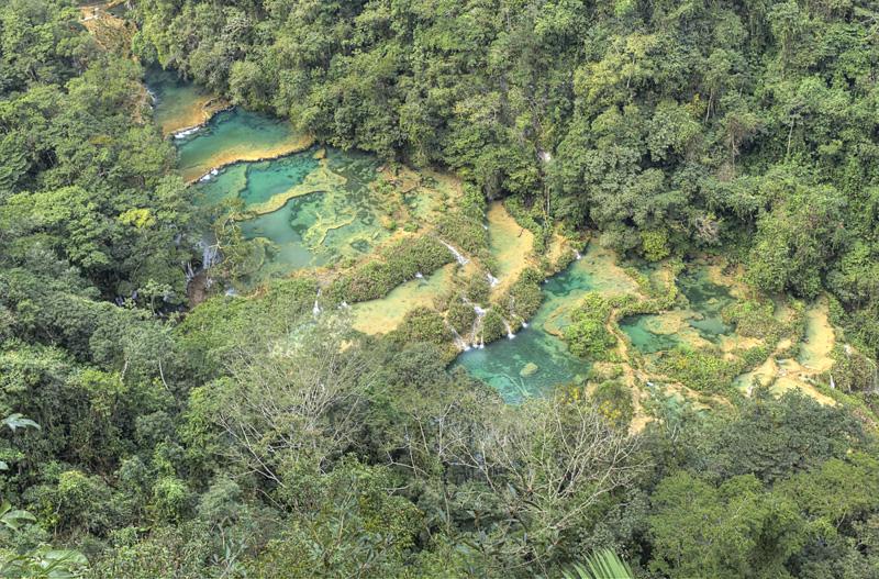 Semuc Champey - Aerial view