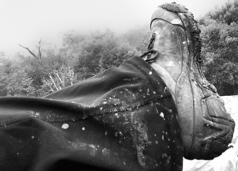 Muddy Boots at Tikal