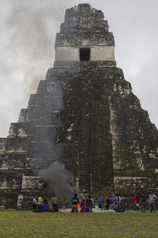 Offering in Gran Plaza Tikal